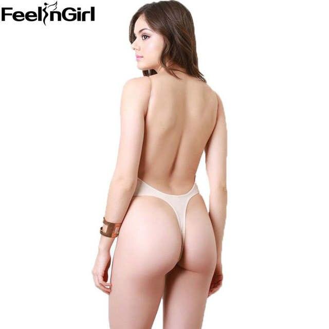 52314d4e49 Online Shop Women s Bodysuit Vestido Backless Shapewear Deep Plunge Thong  Slimming Body Shaper Tops Invisible Bra Under Body Shaping Dress-B