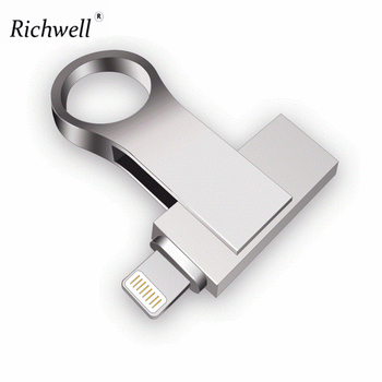 Richwell Usb Flash Drive For iphone 8/7/7plus/6/6s Plus/5/5S/5C/ipad 8gb 16gb 32gb Pen drive 64gb 128GB OTG usb 2.0 memory stick USB-флеш-накопитель