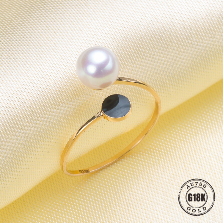 Bagues de luxe en or jaune véritable G18K pour femmes taille libre réglable bague de mariage mode or pur-bijoux accessoires de bricolage