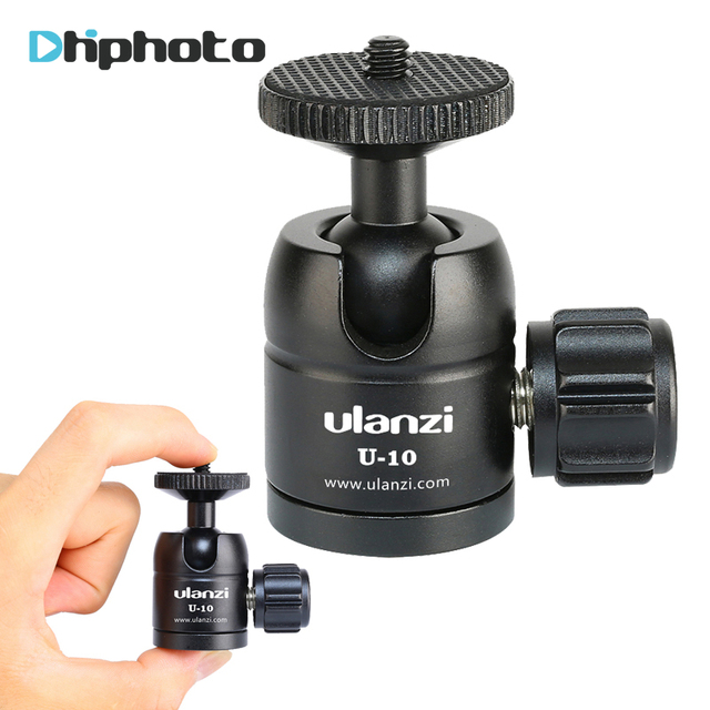 Ulanzi U-10 Mini Ball Head, CNC Tripod Ball Head for iPhone Vloging Mini Tripod Monopod lightweight Cameras and Smartphones