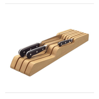 Solid wood knife holder Horizontal horizontal wood knife tool storage racks