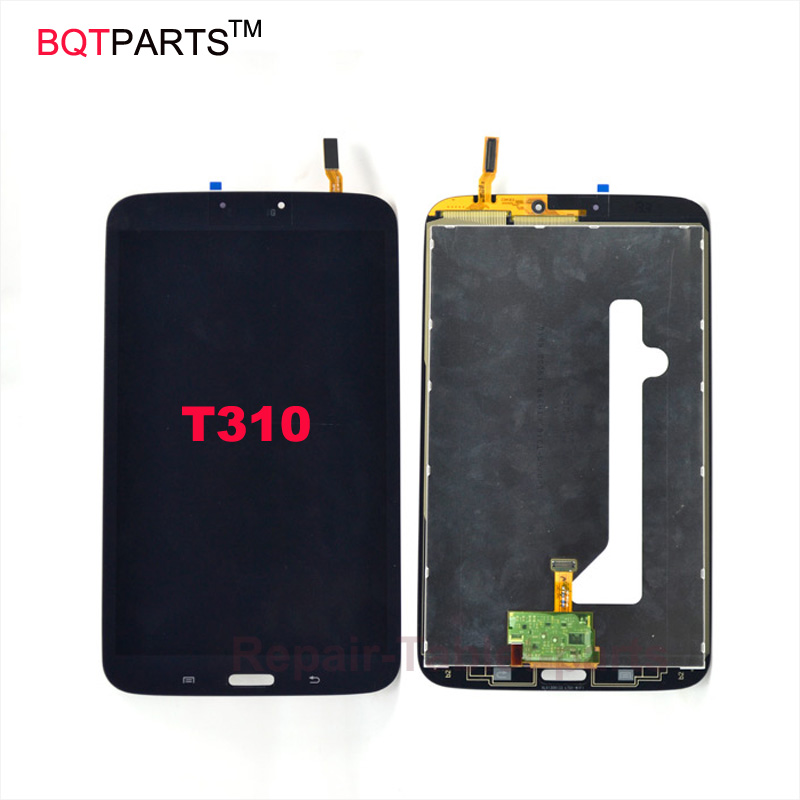 BQTParts For Samsung Galaxy Tab 3 8.0 SM-T310 T310 LCD display screen with touch screen Digitizer full assembly White Black white 8inch for samsung for galaxy tab 3 sm t310 t310 lcd display screen touch digitizer sensor full assembly tablet pc