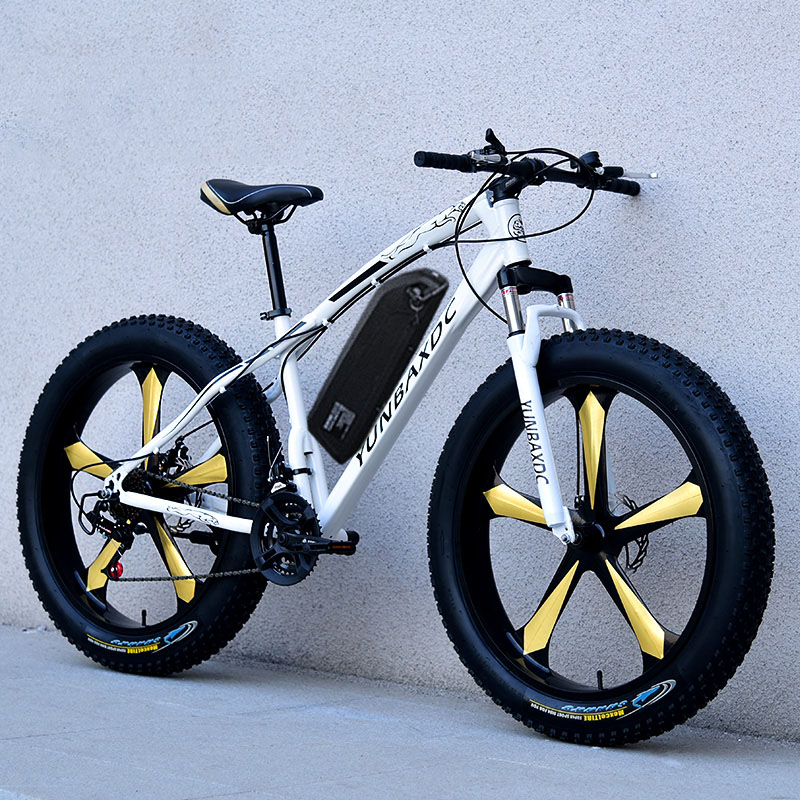 26inch snow electric mountain bicycle 48V lithium battery 1000w motor fat ebike 4 0 tires high