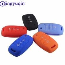 jingyuqin New 3 Buttons Silicone Remote Folding Flid Key Case Cover For Kia Sorento Carens K2 K3 K4 K5
