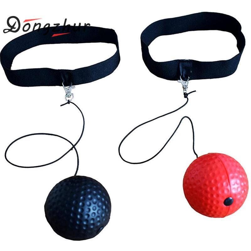 Boxing Fight Ball Tennis Ball With Head Band For Reflex Reaction Speed Training Ball In Boxing Punching