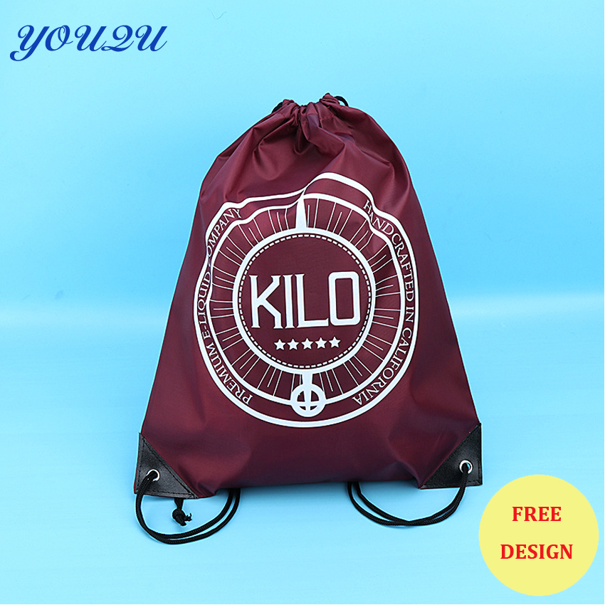 15 Colors Available Custom Polyester Drawstring Bag With Your Logo