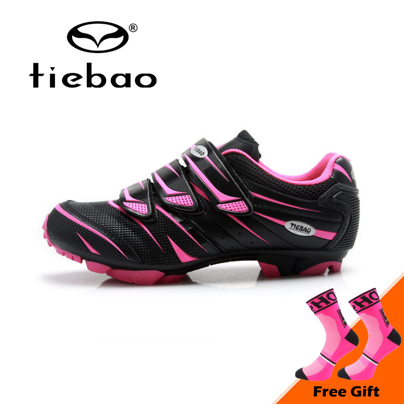 цены Tiebao Professional Women Mountain Bike Shoes Soft Breathable Cycling Shoes Non-slip MTB Bicycle Shoes Zapatos de ciclismo