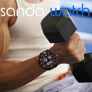 Image 3 - 三田軍事メンズ腕時計防水スポーツ腕時計メンズ多機能 S ショック時計男性 horloges マンレロジオ Masculino 737