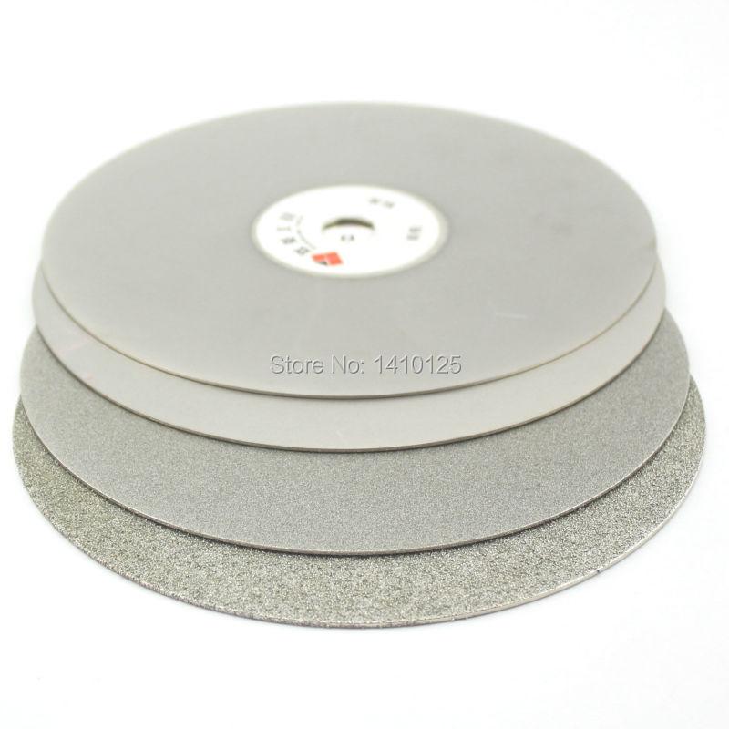 4 шт. 12 дюймов 300 мм Грит 60 240 600 1000 грубого до тонкого Алмазное покрытие без каблука Lap диск шлифовальные Ограночного Jewelry Стекло камни