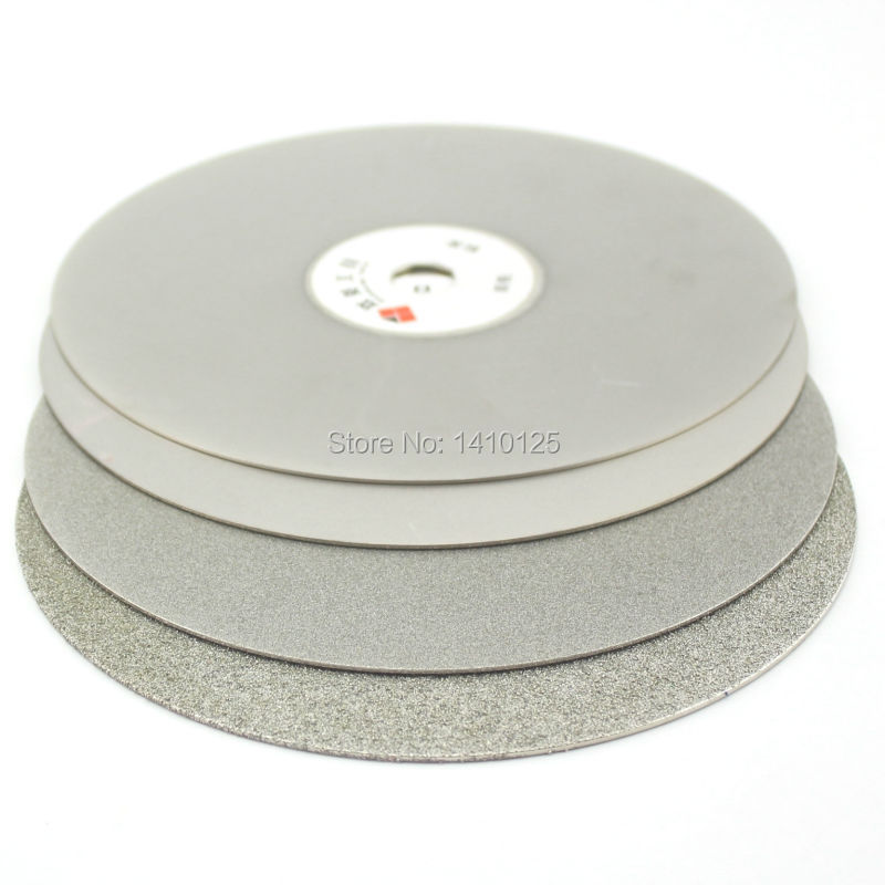 4Pcs 12 inch 300mm Grit 60 240 600 1000 Coarse to Fine Diamond coated Flat Lap Disk Grinding Polishing Wheel Jewelry Glass Gems 3pcs 2 6 inch grit 240 600 1000 kit thin flat diamond stone sharpeners knife fine medium coarse