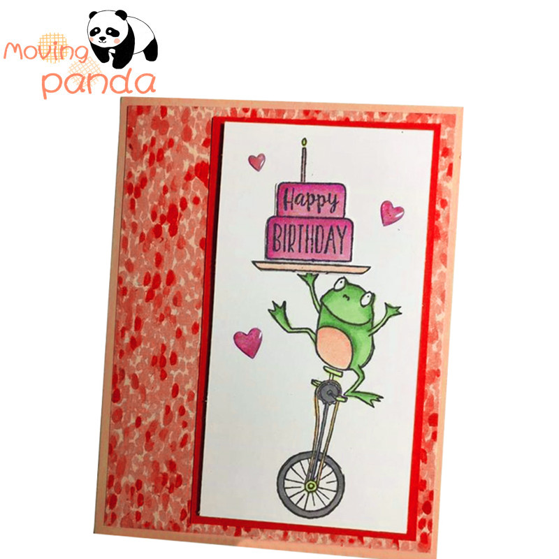2019 11PCS Happy frog Metal Cutting Dies Stamp Stencil for DIY Scrapbooking Photo Album Embossing Decorative Craft Die