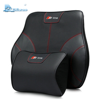 Airspeed S Line Leather Car Pillows Headrest Neck Supports Seat Lumbar Back Cushion For Audi A4