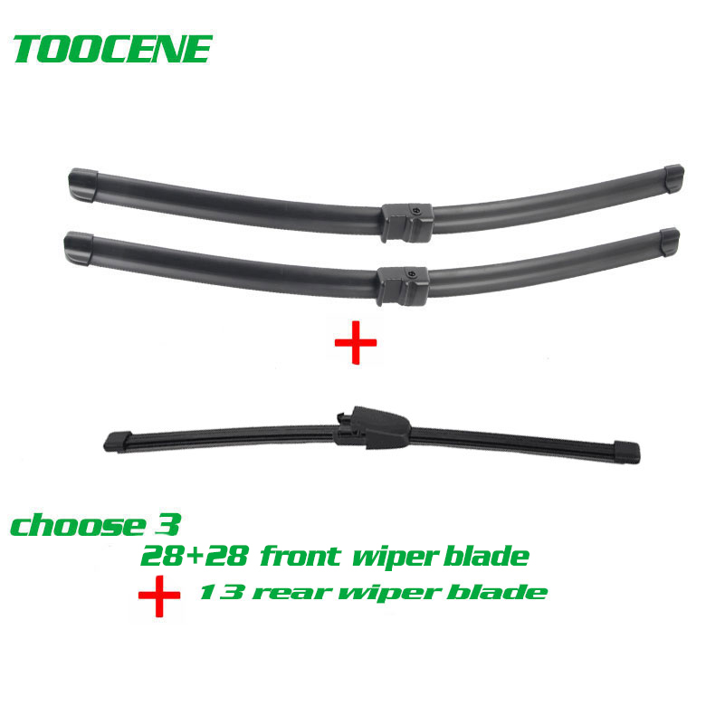 Senwanse Front And Rear Wiper Blades For Volkswagen Touran 2003 -2006  High Quality Windshield Windscreen Wiper 28