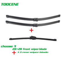 Senwanse Front and rear Wiper Blades For Volkswagen Touran 2003 -2006  high quality Windshield Windscreen wiper 28+28+16