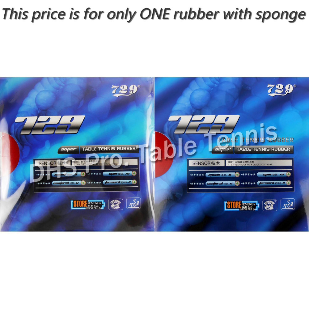 RITC 729 Friendship SUPER FX-729 Guo Yuehua Pips-in Table Tennis Pingpong Rubber With Sponge