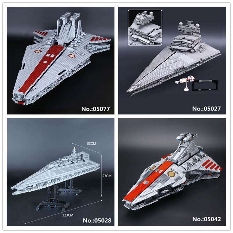 LEPIN 05027 Emperor Fighters 05028 Destroyer 05042 05077 The USC Republic Fighting Cruiser Building Block Toys