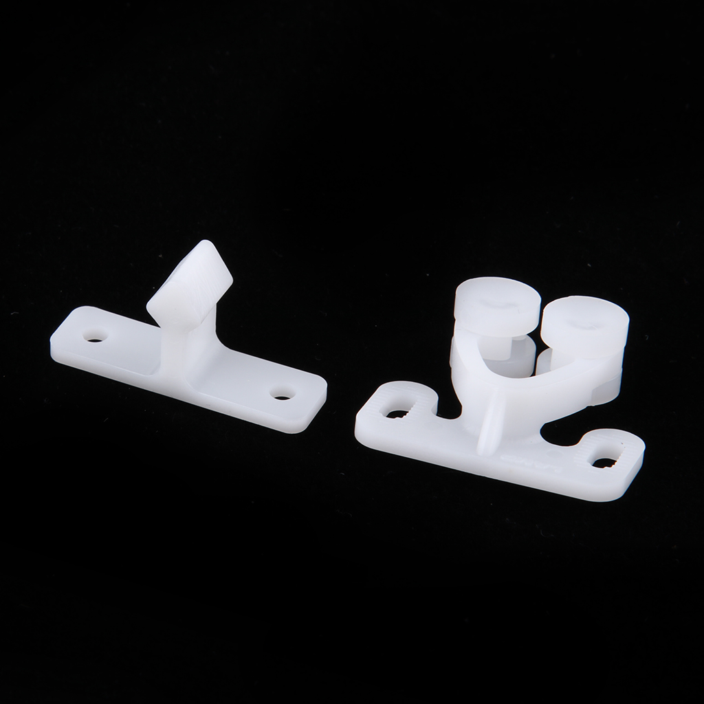 White ABS Plastic Caravan Roller Catch Cabinet Door Drawer Ball Latch Closing Lock Door Roller