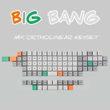 In stock Big Bang MDA Profile Ortholinear Keycaps 101 key Dye subbed MDA Profile Thick PBT Ortholinear Keycaps Fit Cherry MX - DISCOUNT ITEM  0% OFF All Category