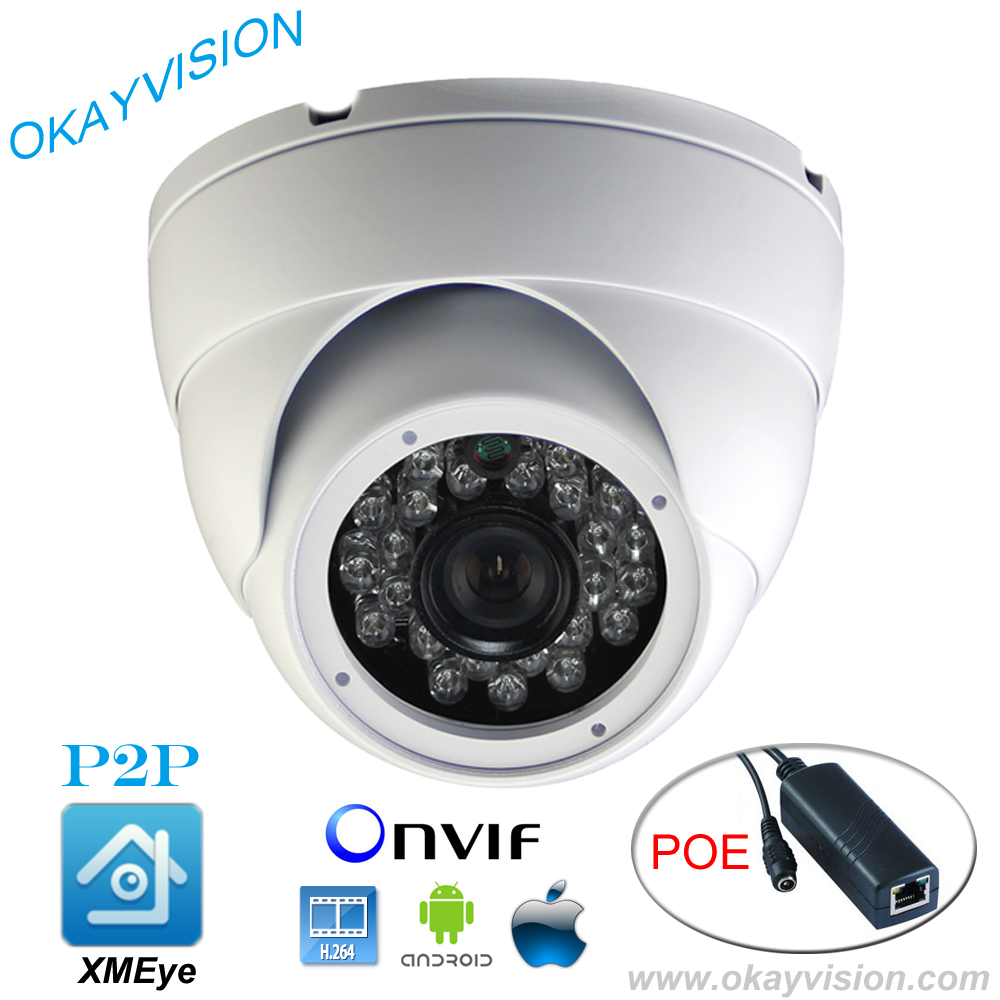 DC48V POE 1280*960P 1.3MP Waterproof DOME IP Camera 24LED indoor CCTV Camera ONVIF Night Vision P2P IP Security Cam with IR-Cut 4pcs lot 960p indoor night version ir dome camera 4 in1 camera 3 6mm lens p2p onvif abs plastic housing
