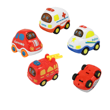 Kids Mini Inertia Push and Go Car Vehicle Toy Friction Powered 4 Style Play Car Toys New Year Gift For Boys Easy to Grasp & Roll