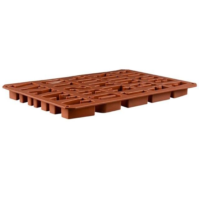 brixini.com - 26 English Alphabet Letter Chocolate Mold