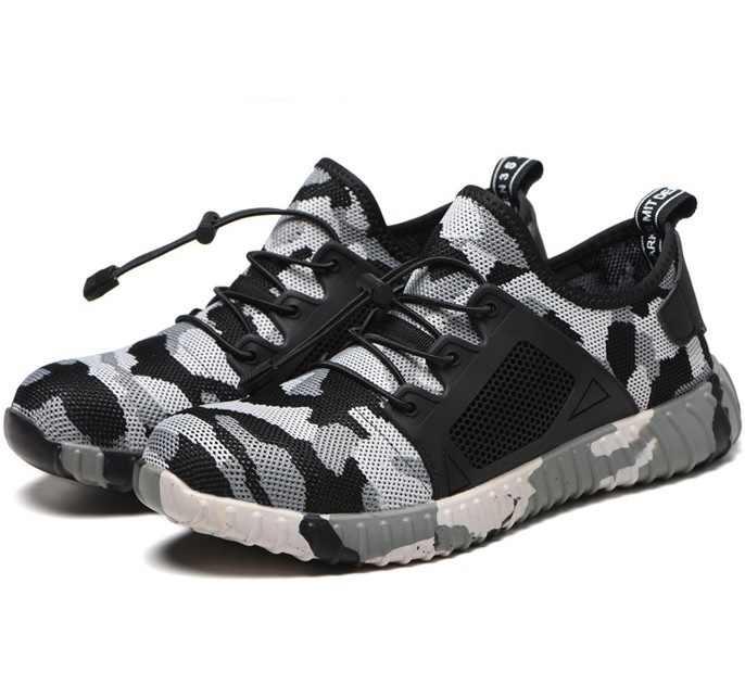 男性女性軽量不滅ライダー靴鋼つま先安全靴パンクプルーフ作業スニーカー通気性ブーツ