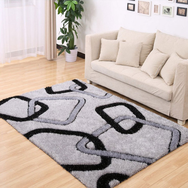 2017 New Fashion Delicate Polyester Home Carpet Solid Large Floor Strips Rugs For Decorate Living Room