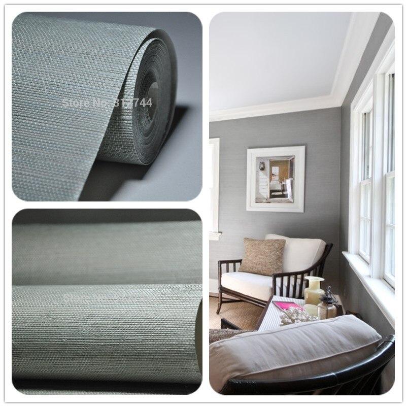 US $35.0 |Formaldehyd freies grau grün sisal tapete für home dekoration,  hotel wand, wohnzimmer-in Tapeten aus Heimwerkerbedarf bei AliExpress