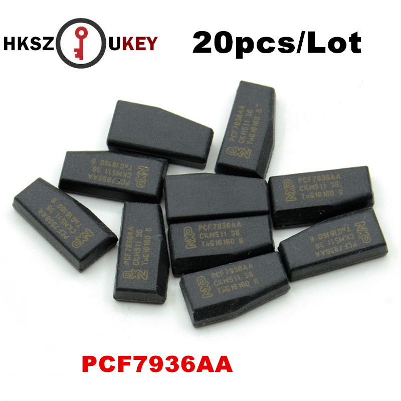 HKSZUKEY 20pcs/lot PCF7936 transponder chip ID46 Chip, PCF7936AS ID46 carbon transponder chip For Opel,suzuki,P eugeot Citroen-in Car Key from Automobiles & Motorcycles    1