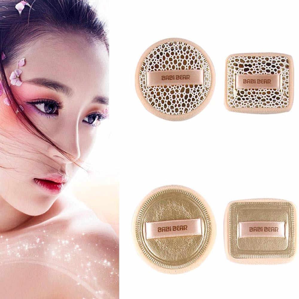 MAANGE 2 Sets of round and square puffs Soft Cleansing Makeup puff Facial Face Makeup Cosmetic Powder Puff best seller X4 2.5 20