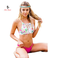 Ariel Sarah Brand 2017 New Floral Brazilian Bikini Swimwear Women Sexy Print Bikinis Set Swimsuit Monokini