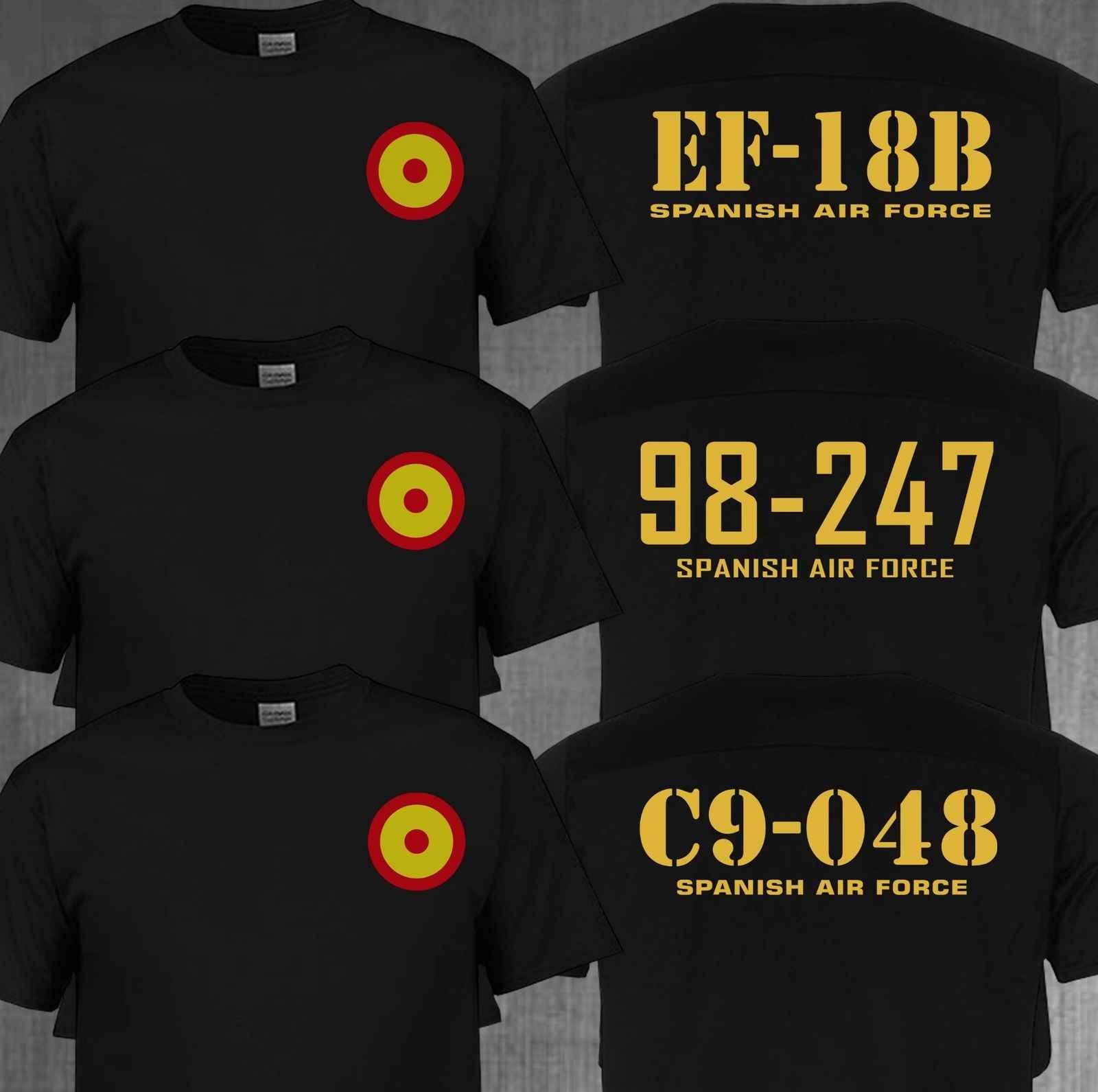 Camiseta de manga corta de algodón para hombre de moda de la Fuerza Aérea  Española Roundel 81e9cf4bf1e