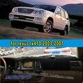 Dashmats-car styling acessórios do carro tampa do painel para lexus lx470 j100 2003 2004 2005 2006 2007