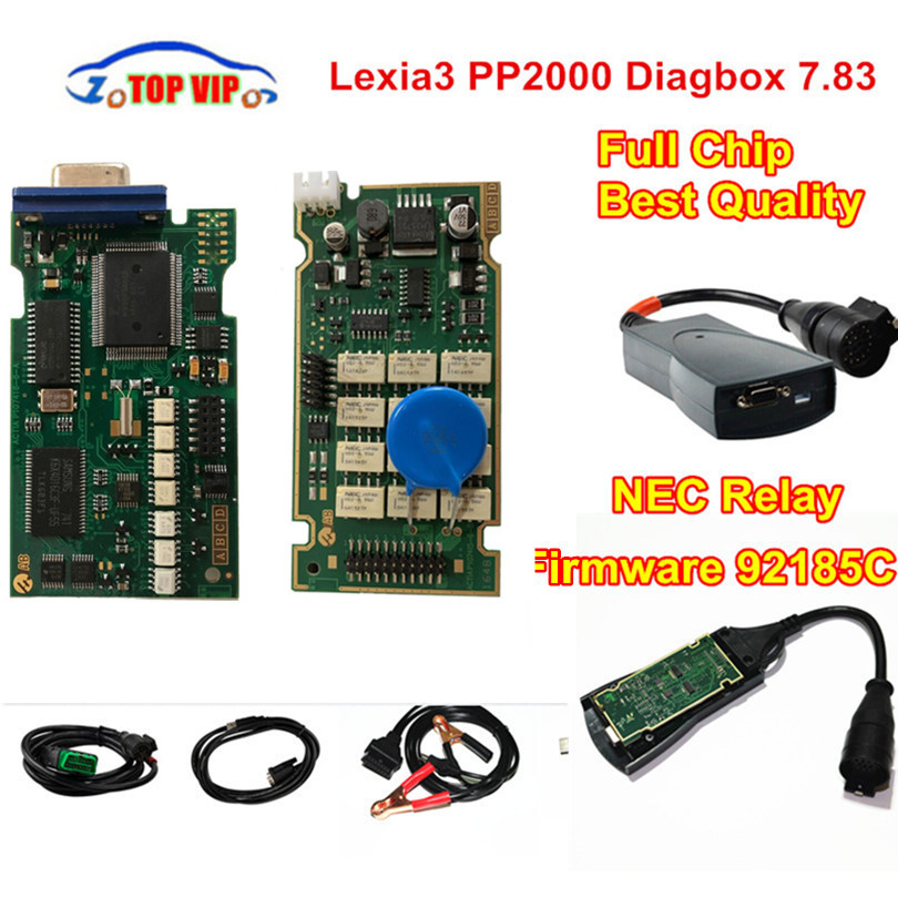 A + + Qualität Volle chip PP2000 Lexia3 FW 921815C Gold Rand NEC Relais Diagbox 7,83 Lexia 3 PP2000 OBD2 Diagnose -werkzeug Auto Scanner