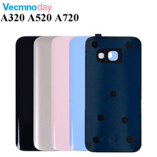 Battery Glass Cover Housing Replacement For Samsung Galaxy A3 A5 A7 2017 A320 A520 A720 Back Door And Adhesive Sticker With Logo