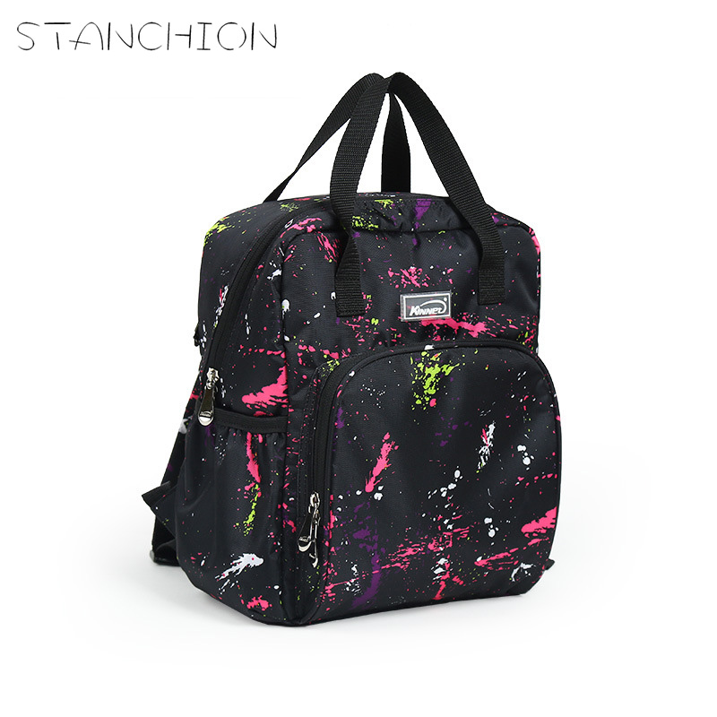 STANCHION Canvas Diaper Nappy Backpack for Mummy Multifunctional Fashion Graffiti Large Capacity  Baby Care Bag fashion mummy bag travel baby diaper bag large capacity multifunctional baby diaper backpack red