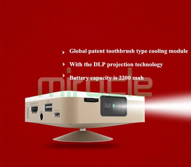 SOOALL D5S D5 actualización AnZhuoYun portátil micro 3 d proyectores hd smart TV