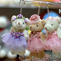 Wholesale 12pcs 6.7in Teddy Bear Plush Toys Keychain Pendant Wedding Soft Toys For Bouquets Doll Brinquedos Girls Christmas Gift