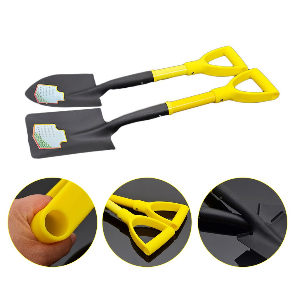 Mini Gardening Tool Metal Head Shovel Plant Garden Soil Raising Tool Portable Outdoor Shovel Survival Emergency Tools