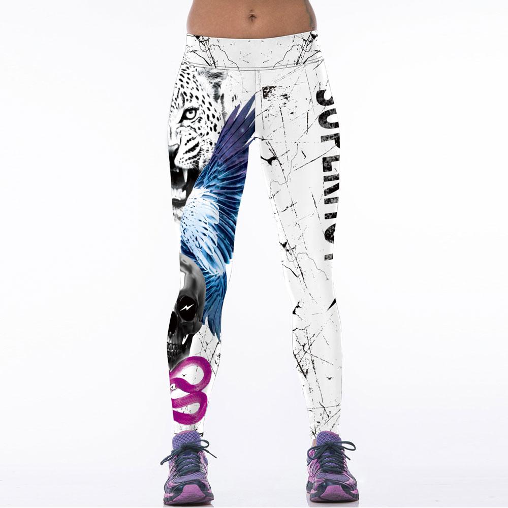 Kuumad naised spordijalatsid 3D trükitud Fitness Legins - Naiste riided