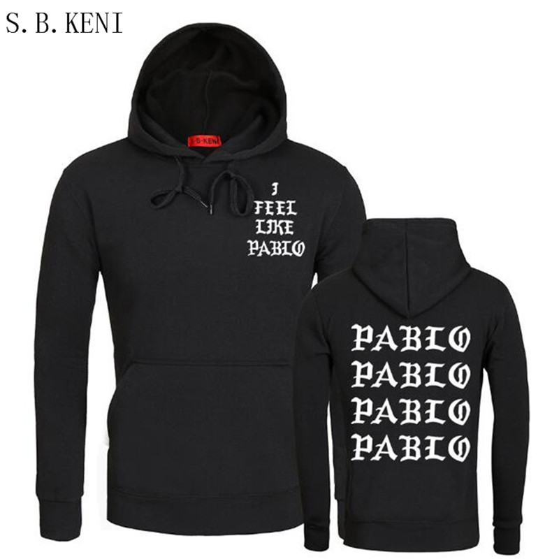 2018 Brand I FEEL LIKE Paul Pablo west Men and women Hoodie Sweatshirts High quality Pablo men Hoodies & Sweatshirts
