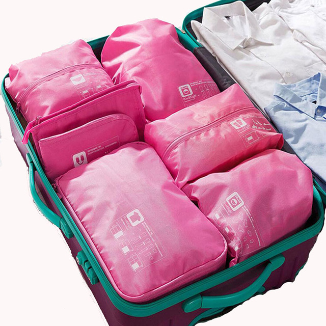 7ef0c41c8eef Travel Bag Set Women Men Pack Cubes Luggage Organizer For Clothes ...