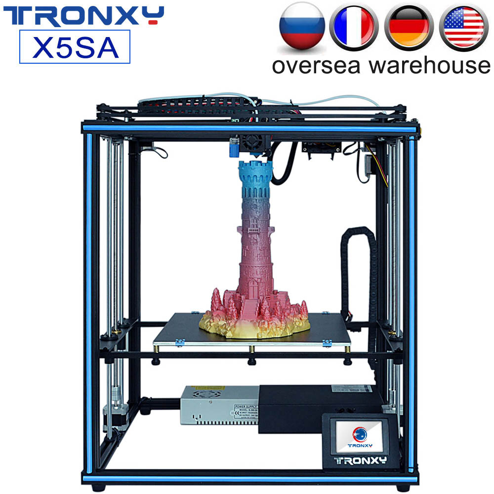 Tronxy New X5SA X5SA-400 FDM 3D Printer Kit Large Print Size Auto Leveling Filament Sensor High Precision 3.5inch Touch Screen image