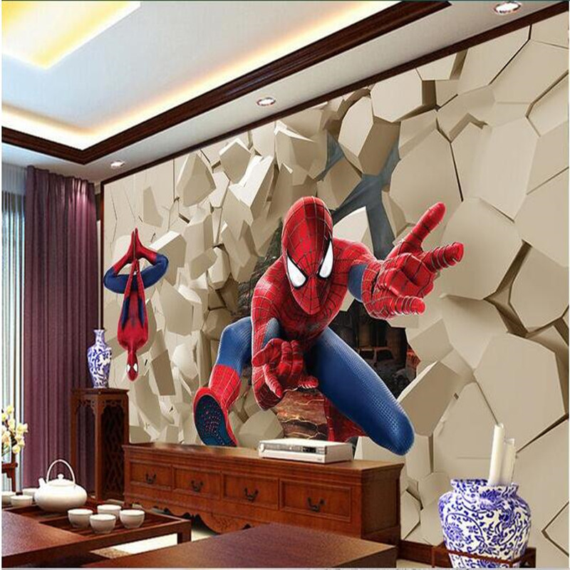 Spiderman Wallpaper For Bedroom: Popular Spiderman Wall Paper-Buy Cheap Spiderman Wall