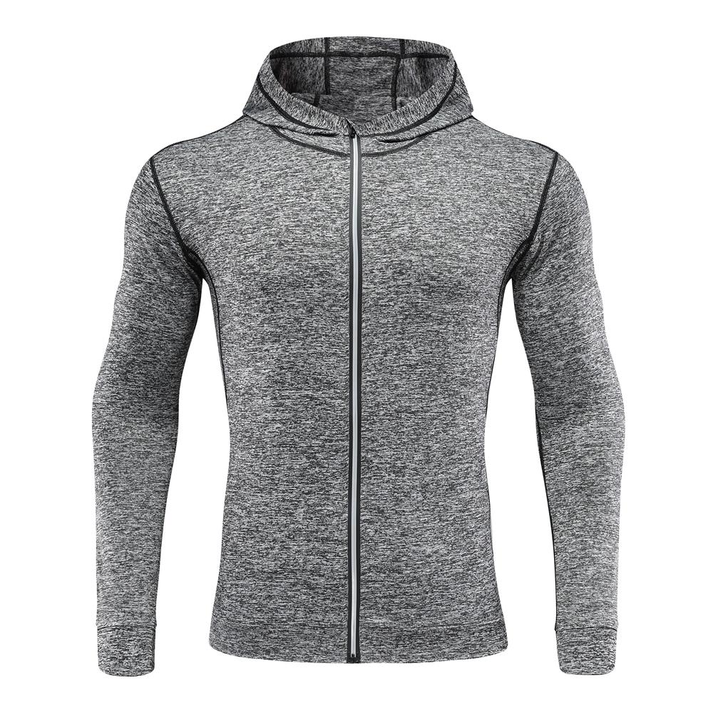 Mens Zip Up Hoodies Jacket Sweatshirt Hooded Sports Gym Long Sleeve Coat To,U