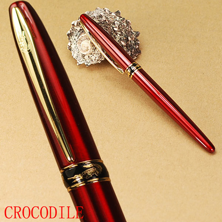 CROCODILE 215 cayman mouth F nib red fountain pen 6 colors for choose