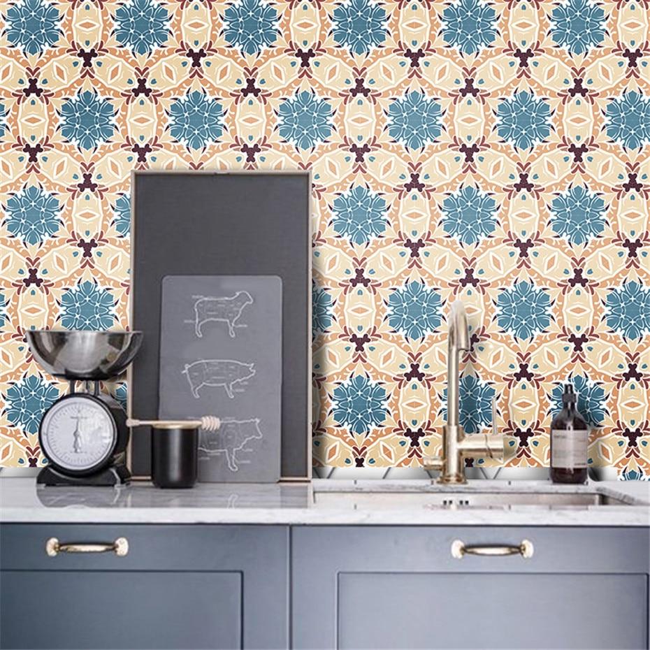 Home Decor Retro Vintage Tiles Stickers Bathroom Kitchen