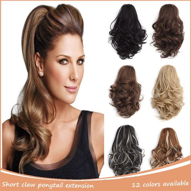 Short Ponytail Hair Extensions High Heat Resistance Style Ponytail