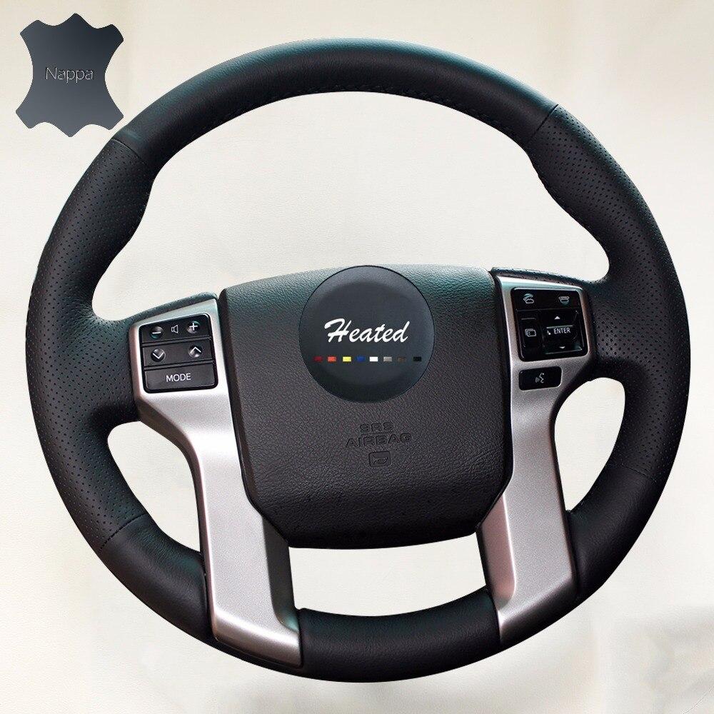 Nappa Leather Steering Wheel Cover for Toyota Land Cruiser Prado 2010-2015 Tundra Tacoma 4 Runner braid on the steering wheel
