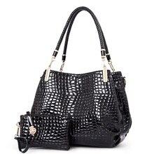 Frauen luxus handtaschen neue stilvolle weibliche umhängetaschen crocodile print pu-leder messenger bags totes leger B-16